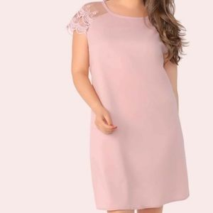🌈3/$20. SHEIN Plum Rose Shift Dress